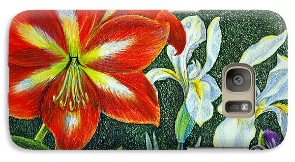 Galaxy Case featuring the drawing In My Garden by Suzanne McKee