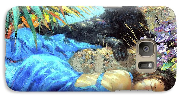 Galaxy Case featuring the painting In One's Sleep by Dmitry Spiros