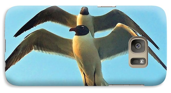 Galaxy Case featuring the photograph In Tandem At Sunset by Sandi OReilly