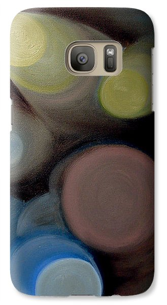 Galaxy Case featuring the painting In The Circles Of The Light by Saad Hasnain