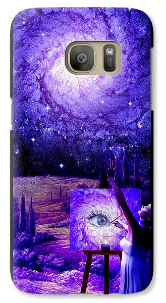 Galaxy Case featuring the painting In The Eye Of The Beholder by Robby Donaghey