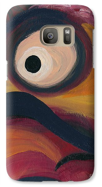 Galaxy Case featuring the painting In The Eye Of The Hurricane by Ania M Milo