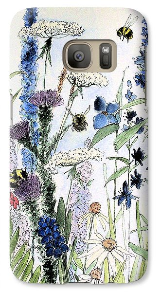 Galaxy Case featuring the painting In The Garden by Laurie Rohner