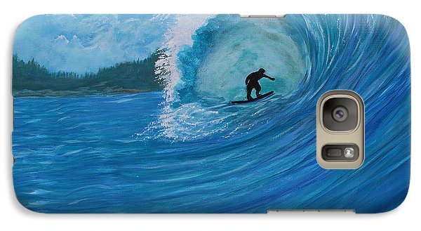Galaxy Case featuring the painting In The Green Room by Myrna Walsh
