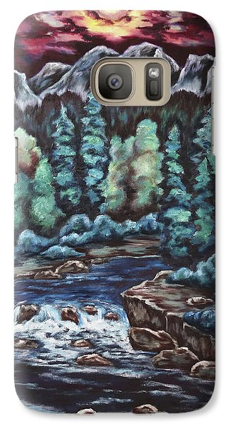 Galaxy Case featuring the painting In The Land Of Dreams by Cheryl Pettigrew