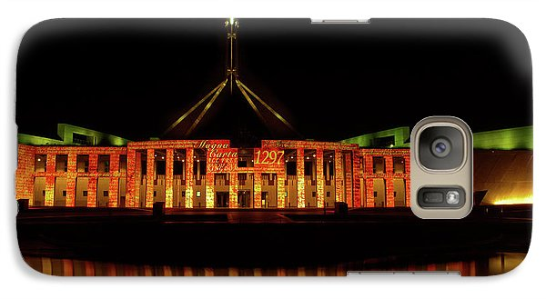 Galaxy Case featuring the photograph      In The Light Of Magna Carta by Werner Padarin