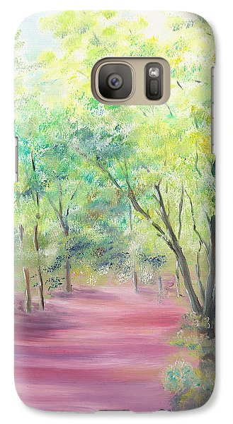 Galaxy Case featuring the painting In The Park by Elizabeth Lock