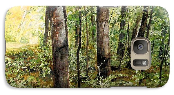 Galaxy Case featuring the painting In The Shaded Forest  by Laurie Rohner