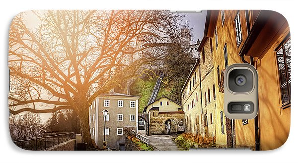 Galaxy Case featuring the photograph In The Shadow Of Salzburg Castle  by Carol Japp