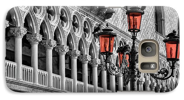 Galaxy Case featuring the photograph In The Shadow Of The Doges Palace Venice by Carol Japp