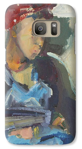 Galaxy Case featuring the painting In The Still Of Quiet by Daun Soden-Greene