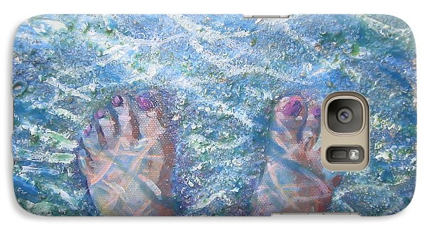 Galaxy Case featuring the painting In The Water by Tilly Strauss