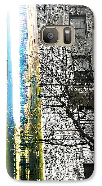 Galaxy Case featuring the mixed media Inbetween  by Tony Rubino