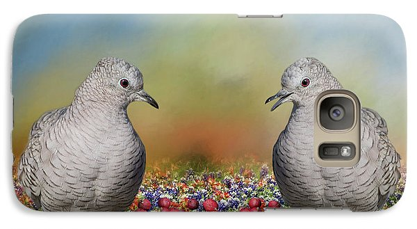 Galaxy Case featuring the photograph Inca Doves by Bonnie Barry