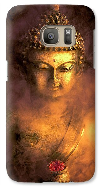 Galaxy Case featuring the photograph Incense Buddha by Daniel Hagerman