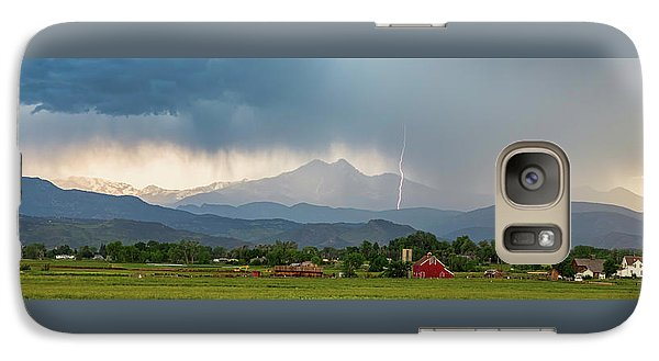 Galaxy Case featuring the photograph Incoming Storm Panorama View by James BO Insogna