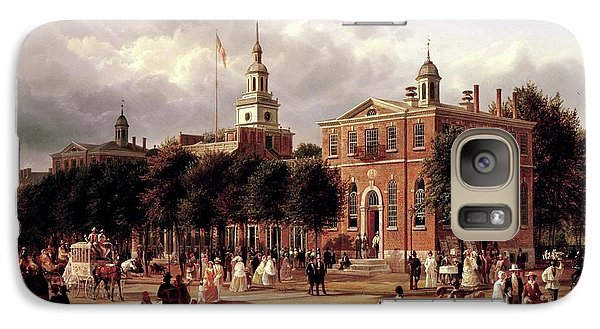 Galaxy Case featuring the painting Independence Hall by Ferdinand Richardt