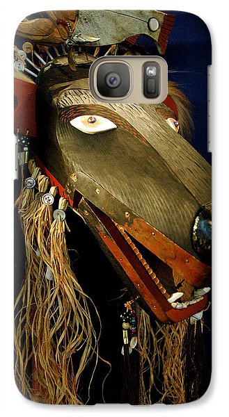Indian Animal Mask Galaxy S7 Case by LeeAnn McLaneGoetz McLaneGoetzStudioLLCcom
