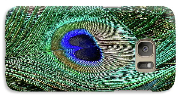 Galaxy Case featuring the photograph Indian Blue Peacock Macro by Blair Wainman