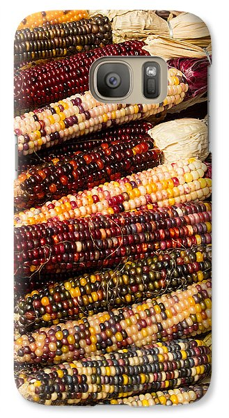 Galaxy Case featuring the photograph Indian Corn by Dick Botkin