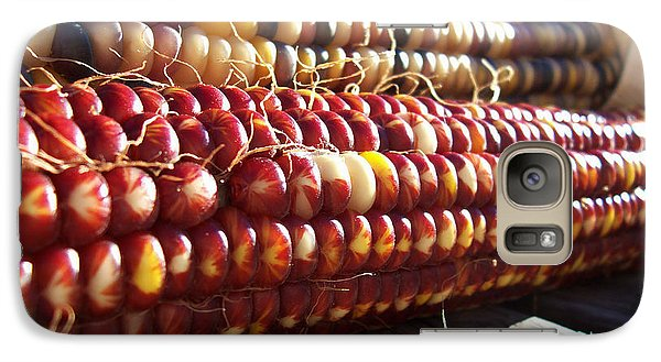 Galaxy Case featuring the photograph Indian Corn On The Cob by Shawna Rowe
