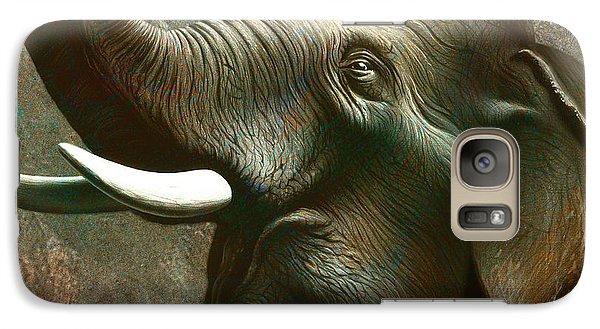 Indian Elephant 3 Galaxy Case by Jerry LoFaro