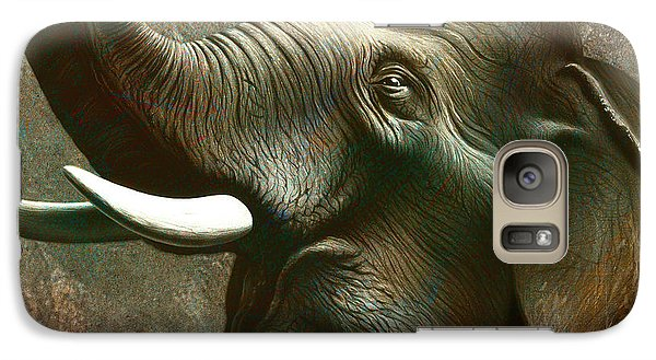 Trumpet Galaxy S7 Case - Indian Elephant 2 by Jerry LoFaro