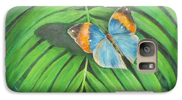 Galaxy Case featuring the painting Indian Head Butterfly by Oz Freedgood
