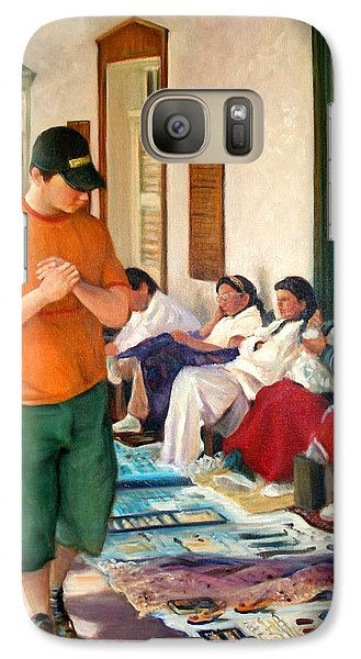 Galaxy Case featuring the painting Indian Market by Donelli  DiMaria