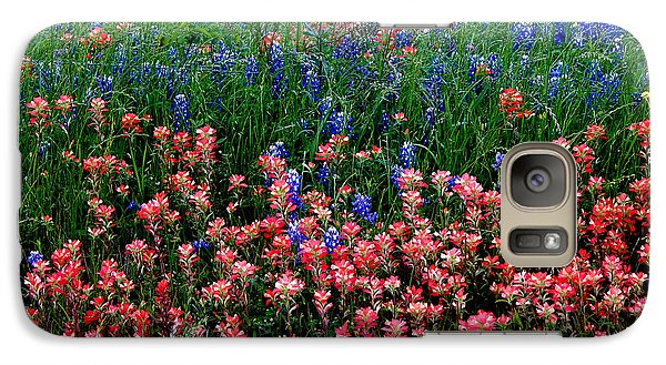 Galaxy Case featuring the photograph Indian Paintbrush #0486 by Barbara Tristan