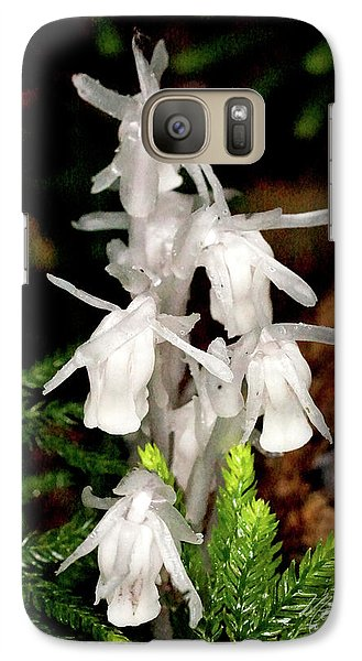 Galaxy Case featuring the photograph Indian Pipes On Club Moss by Meta Gatschenberger