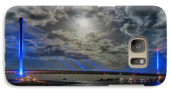 Indian River Bridge Moonlight Panorama Galaxy S7 Case