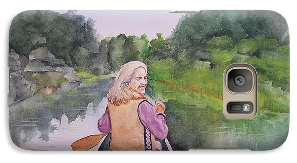 Galaxy Case featuring the painting Indian River by Ellen Canfield