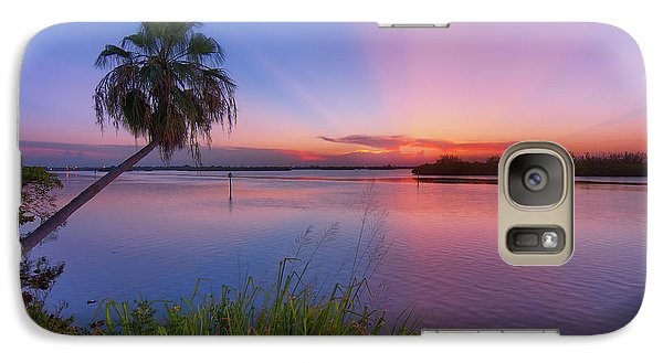 Galaxy Case featuring the photograph Indian River State Park Bursting Sunset by Justin Kelefas