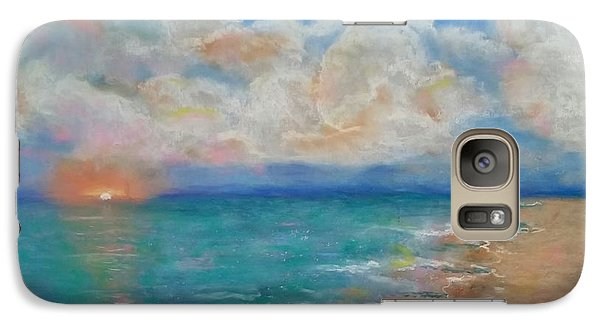 Galaxy Case featuring the pastel Indian Shores by Vickie Scarlett-Fisher