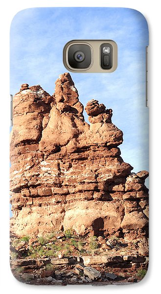 Galaxy Case featuring the photograph Indian Spirit Rock by Daniel Hebard