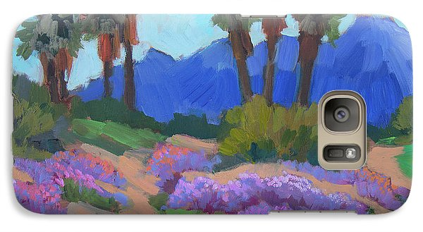 Galaxy Case featuring the painting Indian Wells Verbena by Diane McClary