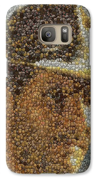 Galaxy Case featuring the mixed media Indiana Jones Treasure Coins Mosaic by Paul Van Scott