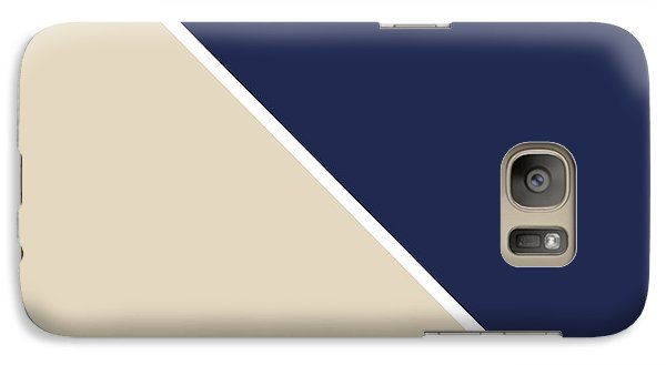 Indigo And Sand Geometric Galaxy S7 Case by Linda Woods