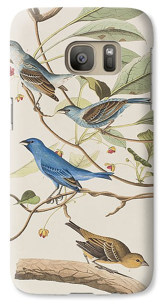 Indigo Bird Galaxy S7 Case by John James Audubon