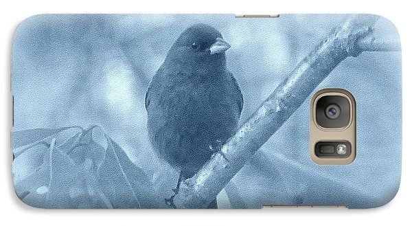 Galaxy Case featuring the photograph Indigo Bunting In Blue by Sandy Keeton