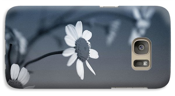 Daisy Galaxy S7 Case - Indigo Daisies 1- Art By Linda Woods by Linda Woods