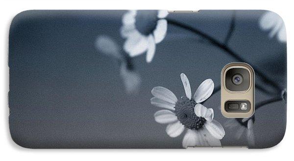 Daisy Galaxy S7 Case - Indigo Daisies 2- Art By Linda Woods by Linda Woods