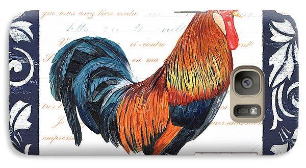 Indigo Rooster 1 Galaxy Case by Debbie DeWitt