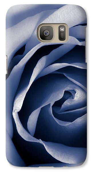 Galaxy Case featuring the photograph Indigo Rose by Jim Hughes