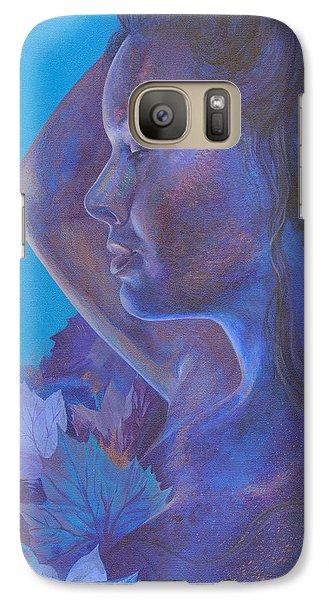 Galaxy Case featuring the painting Indigo Serene by Ragen Mendenhall
