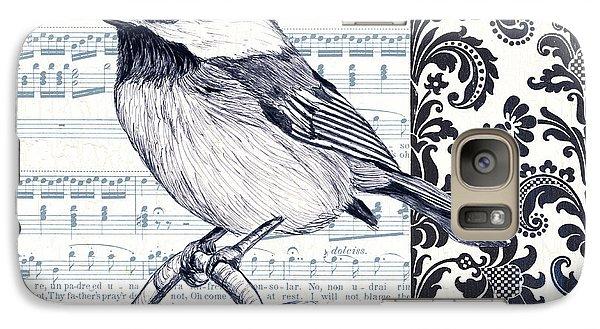 Indigo Vintage Songbird 2 Galaxy S7 Case by Debbie DeWitt