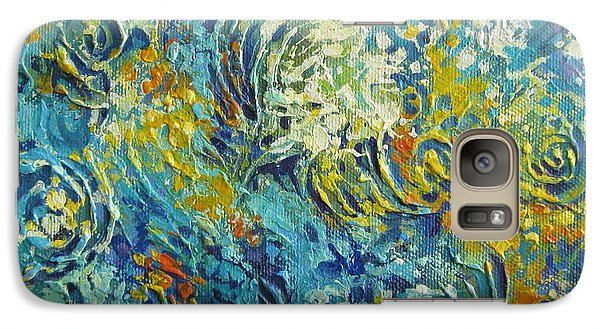 Galaxy Case featuring the painting Inflorescence 2 by Elena Oleniuc