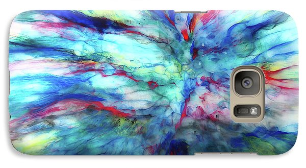 Galaxy Case featuring the mixed media Influx by Tom Druin