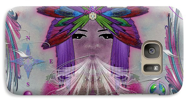 Galaxy Case featuring the digital art Inhaling Exhaling Peace by Barbara Tristan